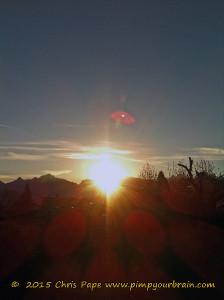 Sonne über Berge